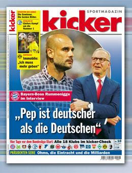 Der aktuelle kicker-Titel.
