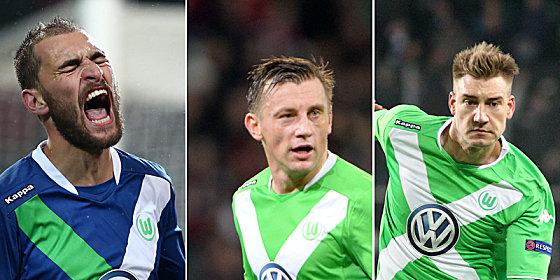Bast Dost, Ivica Olic und Nicklas Bendtner (v. li. nach re.)