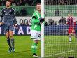 Wolfsburg am Dr�cker, auch wenn Arnold hier einer Chance nachtrauert.