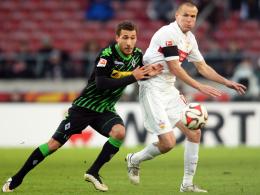 Ein Anfang, der Appetit auf mehr macht: Gladbachs Fabian Johnson (li.) stand gegen Stuttgart in der Startelf.