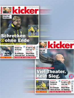 Die kicker-Titel vom Donnerstag.