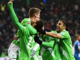 In Wolfsburg schon obenauf: Schürrle legte gegen Hoffenheim doppelt auf.