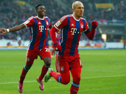 Zwei Bayern-Torschützen in Stuttgart: Robben und Alaba.