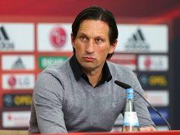 Bayer-Trainer Roger Schmidt will gegen Wolfsburg den fünften Heimsieg in Folge einfahren.