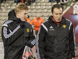 Kevin de Bruyne und Marc Wilmots