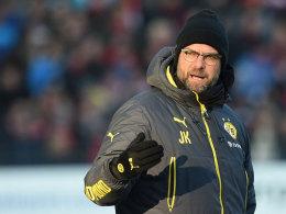 """""""Der Druck auf uns ist nach wie vor riesengroß"""": Jürgen Klopp fordert daher volle Konzentration in Stuttgart."""
