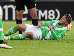 Auf Aaron Hunt muss der VfL Wolfsburg lange verzichten.