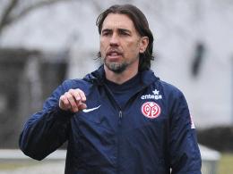 """""""Das wird knackig und aggressiv"""", sagt der Mainzer Coach Martin Schmidt vor dem Abschlusstraining."""