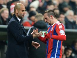 """""""Ohne ihn sind wir keine Top-Mannschaft"""": Bayern-Coach Pep Guardiola lobt Franck Ribery."""