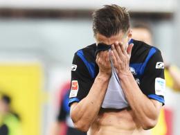 """""""Es nervt die ganze Mannschaft, vor allem aber mich"""": Paderborns Stürmer Stefan Kutschke über die vergebenen Chancen."""
