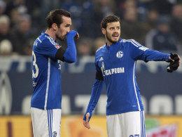 Haben zu alter Formstärke zurückgefunden: die Schalker Routiniers Christian Fuchs (li.) und Tranquillo Barnetta.