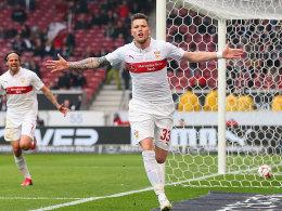 Doppelpacker gegen Frankfurt: Daniel Ginczek.