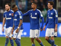 Gingen gegen Leverkusen als Verlierer vom Platz: Schalkes Akteure.