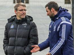 Stabswechsel: Joe Zinnbauer ist nicht mehr Trainer des HSV, Peter Knäbel übernimmt.