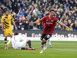 Lars Stindl jubelt gegen Dortmund