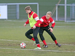 Timo Werner (li.) und Timo Baumgartl.