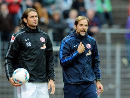 Heinz M�ller (l.) und Thomas Tuchel