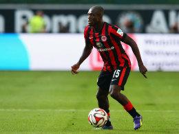 Constant Djakpa gab im Testspiel bei Germania Niederrodenbach (16:0) ein halbes Jahr nach seinem Kreuzbandriss sein Comeback.