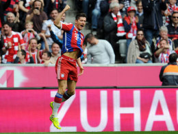 Robert Lewandowski schoss den FC Bayern mit zwei Treffern zum Sieg.