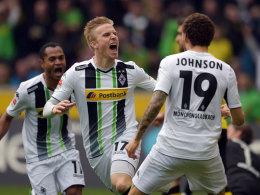 Oscar Wendt brachte Gladbach nach wenigen Sekunden gegen Dortmund in Führung.