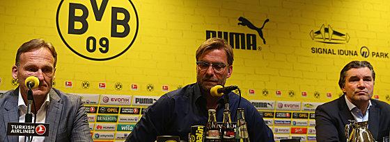 Geschäftsführer Hans-Joachim Watzke und Trainer Jürgen Klopp