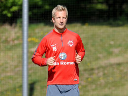 Stefan Aigner am Montag auf dem Frankfurter Trainingsplatz