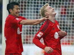 Begehrte Bayer-Bubis: Heung-Min Son und Julian Brandt.
