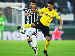Wolfsburgs Manager Klaus Allofs dementiert ein Interesse: Dortmunds Ilkay Gündogan, rechts gegen Juventus.