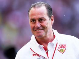 Undurchsichtiges Lächeln im Gesicht: Stuttgarts Trainerfuchs Huub Stevens.