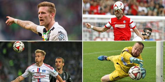 Hahn, Krmas, Holtby und Kruse.