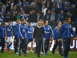 Zu leise f�r Schalke: Roberto di Matteo (Mi.).