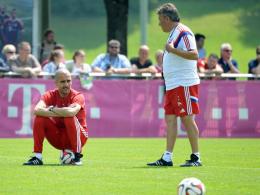 Pep Guardiola und Domenec Torrent