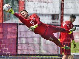 Sven Ulreich am Mittwoch in seinem ersten Bayern-Training