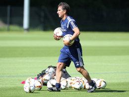 Bruno Labbadia am Mittwoch im HSV-Training
