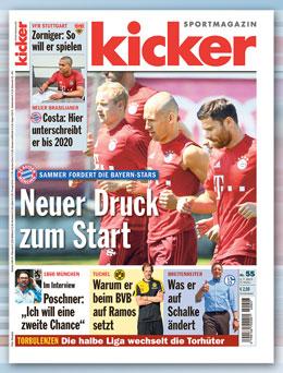 Der aktuelle kicker-Titel