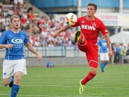 Simon Zoller in Aktion im Test der Kölner gegen eine Burgenland-Auswahl.