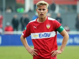 """Schade"": Stuttgarts Youngster Mart Ristl muss bei der U-19-Europameisterschaft zusehen."