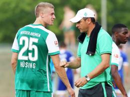 Ehrgeizig: Oliver Hüsing will sich bei Bremens Trainer Viktor Skripnik durchbeißen.