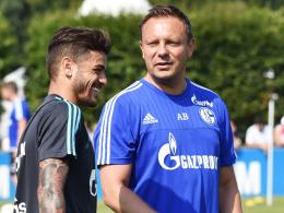 """Trainer André Breitenreiter nennt ihn """"eine Maschine"""": Schalkes Neuzugang Junior Caicara."""