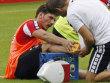 K�lns Neuzugang Milos Jojic verletzte sich am rechten Sprunggelenk.