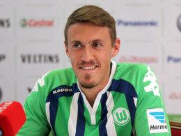 """""""Wir wollen auch in der Champions League eine gute Rolle spielen"""": Wolfsburgs Neuzugang Max Kruse."""