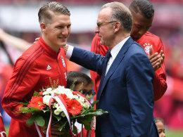 Abschied: Bastian Schweinsteiger wird den FC Bayern verlassen, wie Karl-Heinz Rummenigge bestätigte.