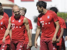 Arjen Robben (l.) und Javi Martinez