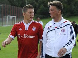Bastian Schweinsteiger und Louis van Gaal