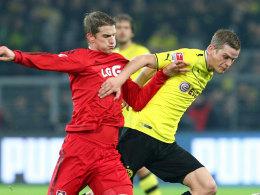 Die Bender-Zwillinge - Lars (li.) und Sven - werden weiterhin als Gegner aufeinandertreffen.