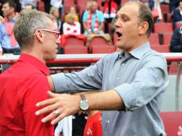 Starkes Team: Kölns Trainer Peter Stöger (li.) und Manager Jörg Schmadtke.