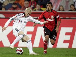 Der junge Vidal in der Hinrunde 2007/08 gegen den blonden Schweinsteiger.