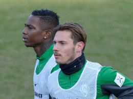 Trainieren individuell und haben keine Zukunft in Bremen: Eljero Elia und Ludovic Obraniak.