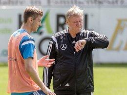 Robin Knoche und Horst Hrubesch