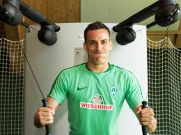 Noch immer individuelles Training: Werder Bremens Torhüter Raphael Wolf.